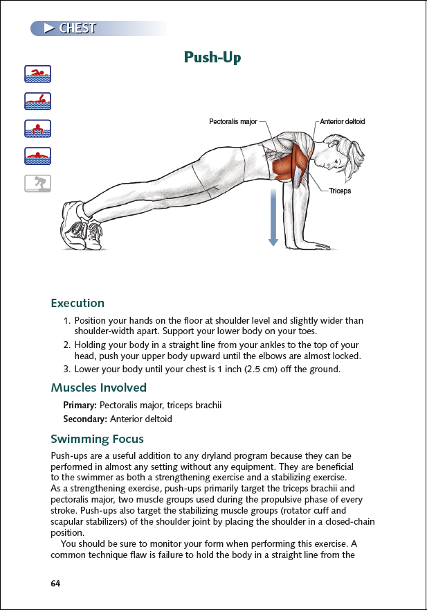 Perform pushups to improve stroke