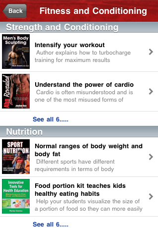 Fitness and conditioning article section screenshot