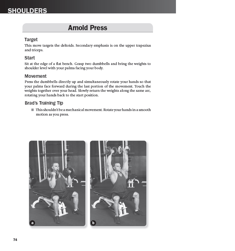 Arnold Press exercise