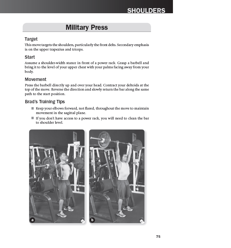 Military Press exercise