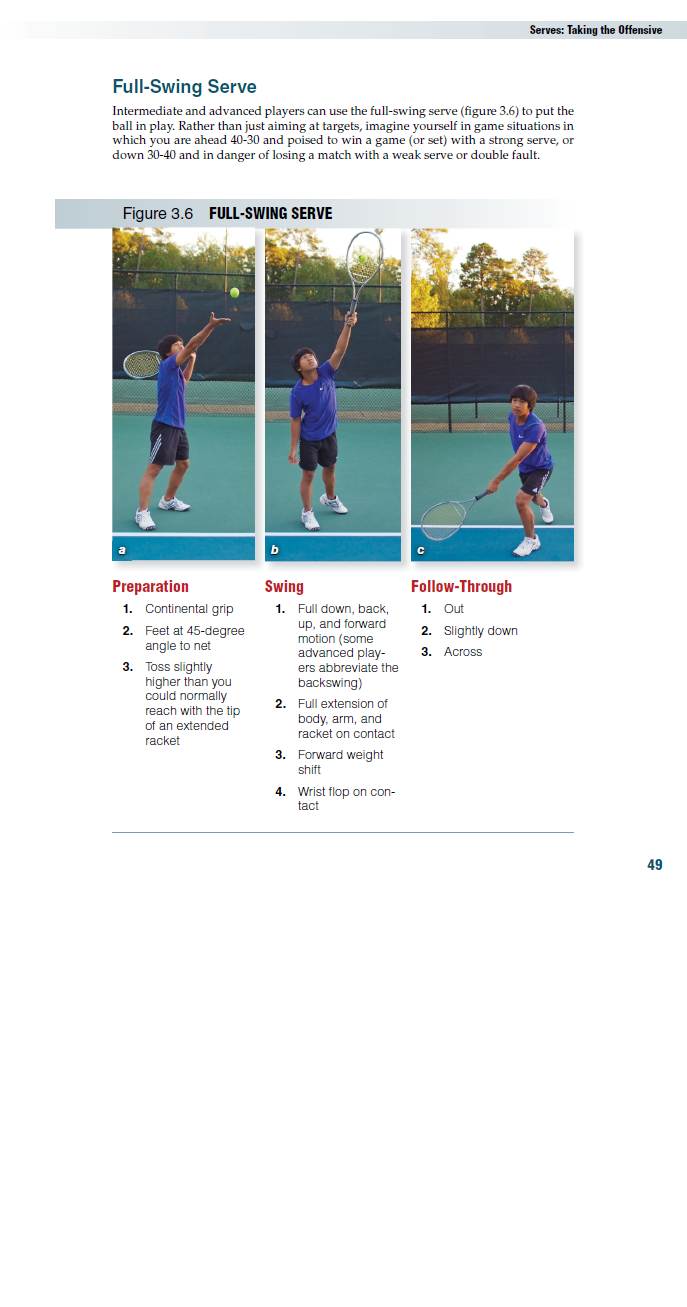 Full-Swing Serve 1